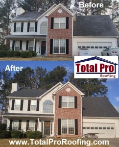 Landmark shingles in Moire Black installed by Total Pro Roofing