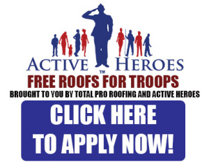 Free Roofs for Troops from Total Pro Roofing