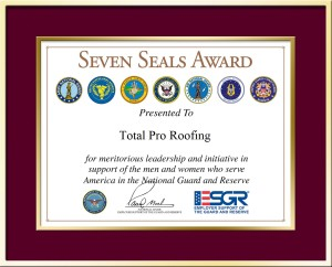 Total Pro Roofing - ESGR Seven Seals Award recipient - 2017