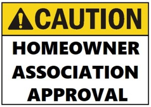 Caution-HOA-approval