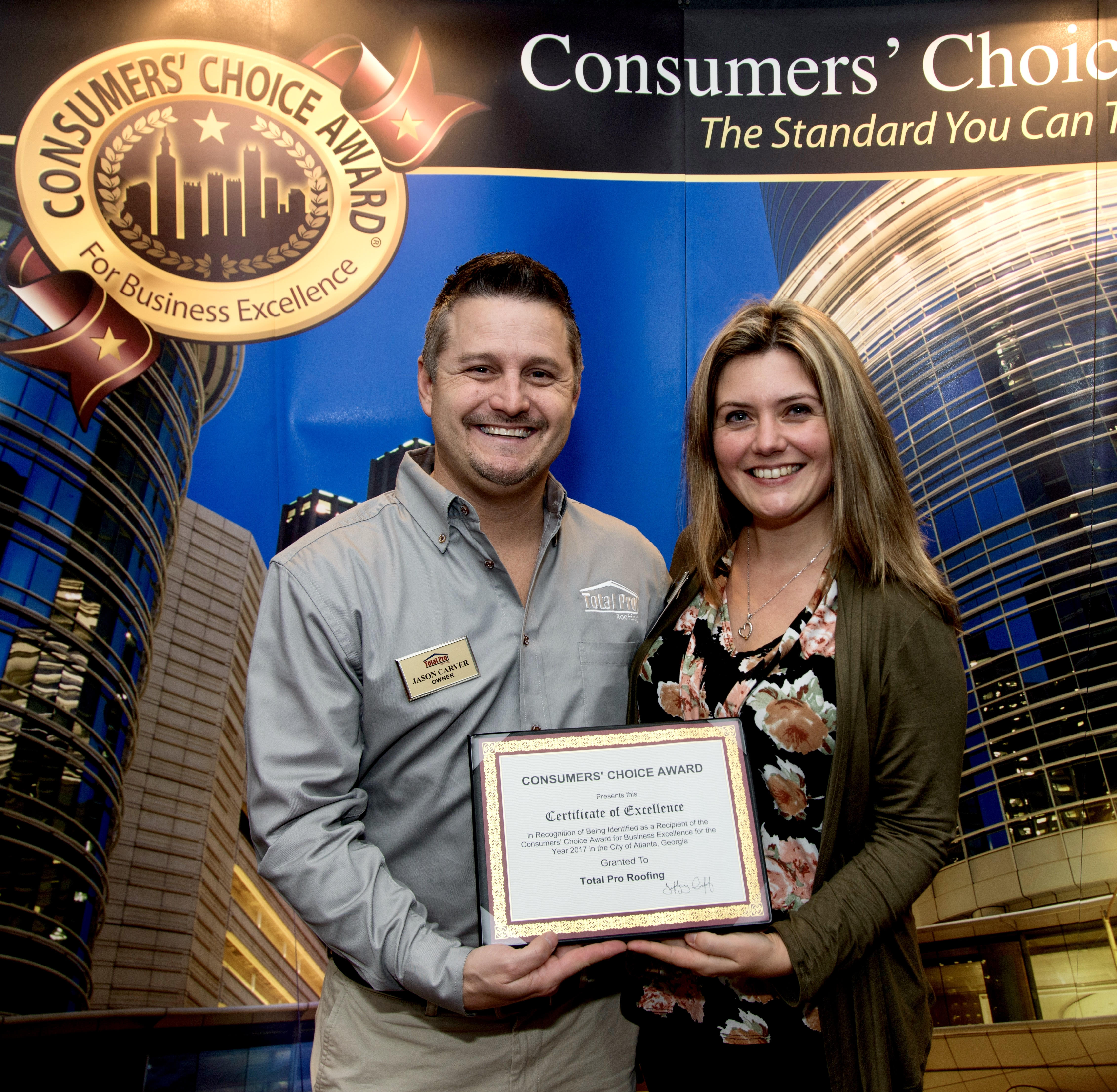 Total Pro Roofing - CCA 2017 - Consumer Choice Award 2017