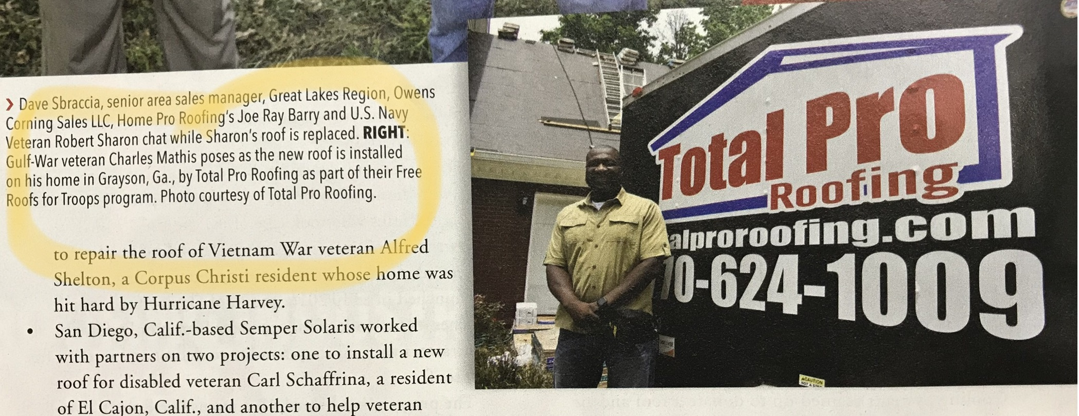 Total Pro Roofing - Roofing Contractor Magazine November 2018
